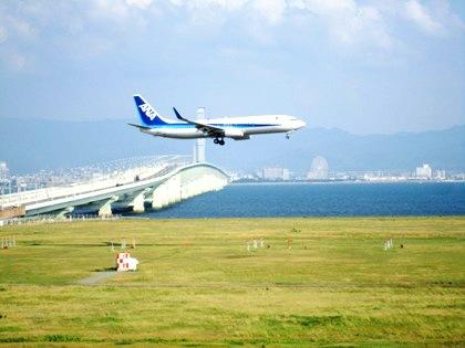 関西空港連絡橋 飛行機
