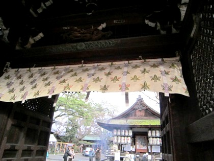 下御霊神社の山門