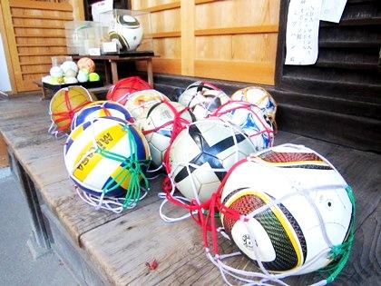 サッカーボール奉納 白峯神宮