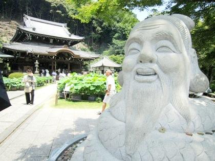 宇賀神 狛蛇 三室戸寺