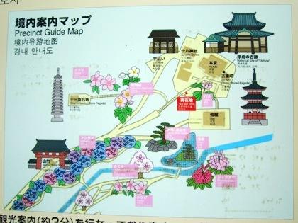 境内案内地図 三室戸寺