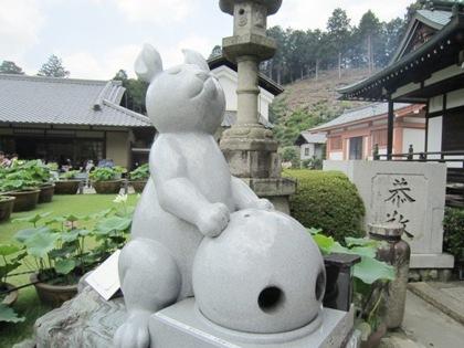 三室戸寺の狛兎