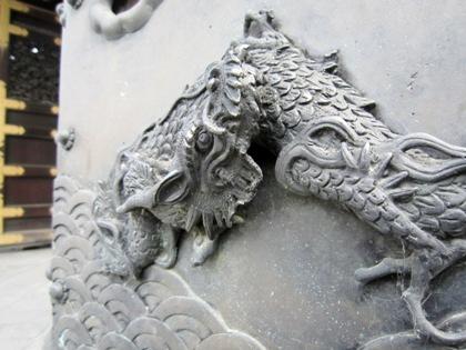 龍の彫刻 西本願寺阿弥陀堂門