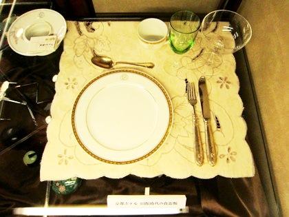 京都ホテルオークラのテーブルセット