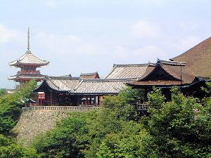 清水の舞台 三重塔 清水寺