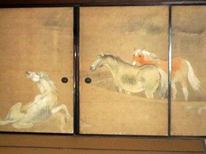 伯楽 橋本関雪の襖絵