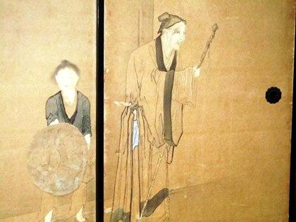 建仁寺の襖絵 老人と子供