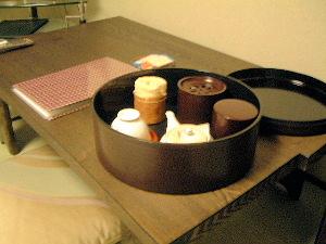 お茶セット 京都東山荘の客室