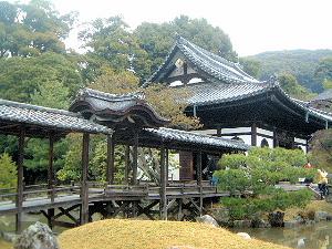 高台寺庭園 観月台と開山堂