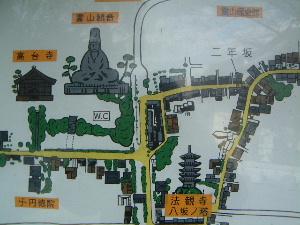高台寺の地図 京都観光