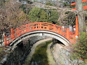 太鼓橋 下鴨神社の風景
