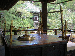 宸殿の玉座 本堂 青蓮院門跡