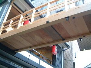 鉾の渡り廊下 祇園祭の準備